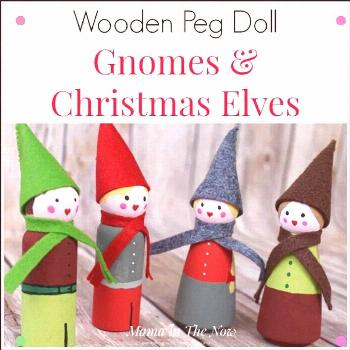 Adorable Diy Christmas Elves And Winter Gnomes. Wooden Peg Dolls Make Great Christmas Decorations A