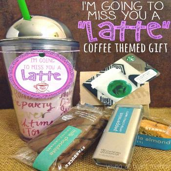 Coffee themed going away gift is creative inspiration for us. Get more photo about home decor relat