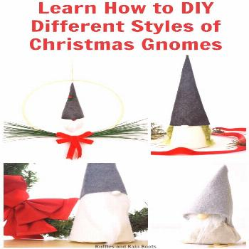 DIY Christmas Gnomes - Tutorials, Patterns, and More DIY Scandinavian Christmas Gnomes are sure to