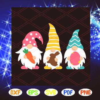 Easter Gnomes Svg, Easter Svg, Three Gnomes Svg, Easter Eggs Svg, Chocolate Bunny Svg, SVG, PNG, EP