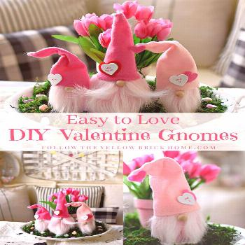 Easy To Love DIY Valentine Gnomes Nordic Valentine Gnomes-#DIY Check out this tutorial for DIY Vale