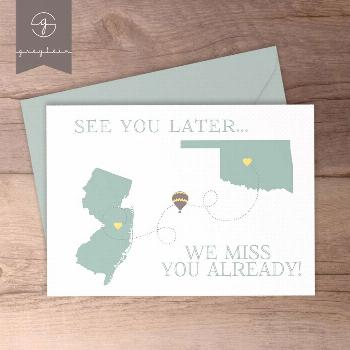 Moving away gift / card / best friend moving away / present / | Etsy