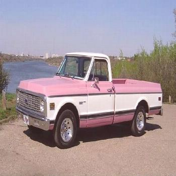 pink pickup truck   ... owned lots of Rancheros, Rangers and F150's...this is my current truck
