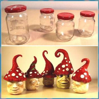 So I made some funny garden gnomes that used old glasses, tin fo ... garden ideas garden ideas chea