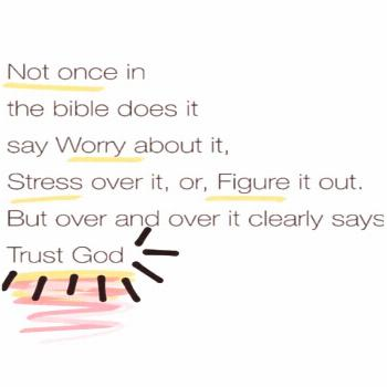 Sometimes letting go (not worrying and not stressing and not holding on to hurt and pain and not st