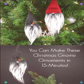 These Adorable Christmas Gnome Ornaments Are A 15-Minute Holiday Craft. Snap To See What She Uses -