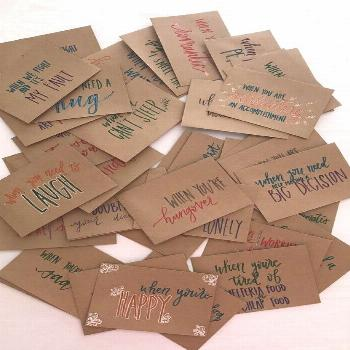 These envelopes are hand-lettered, hand-designed, and hand-made with love! This is the perfect goin