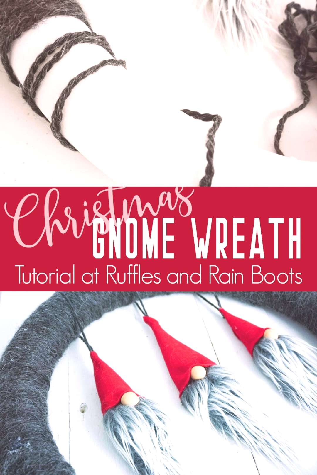 Gnome Ornament Wreath If you're getting crafty for Christmas, this gnome ornament wreath is a show-