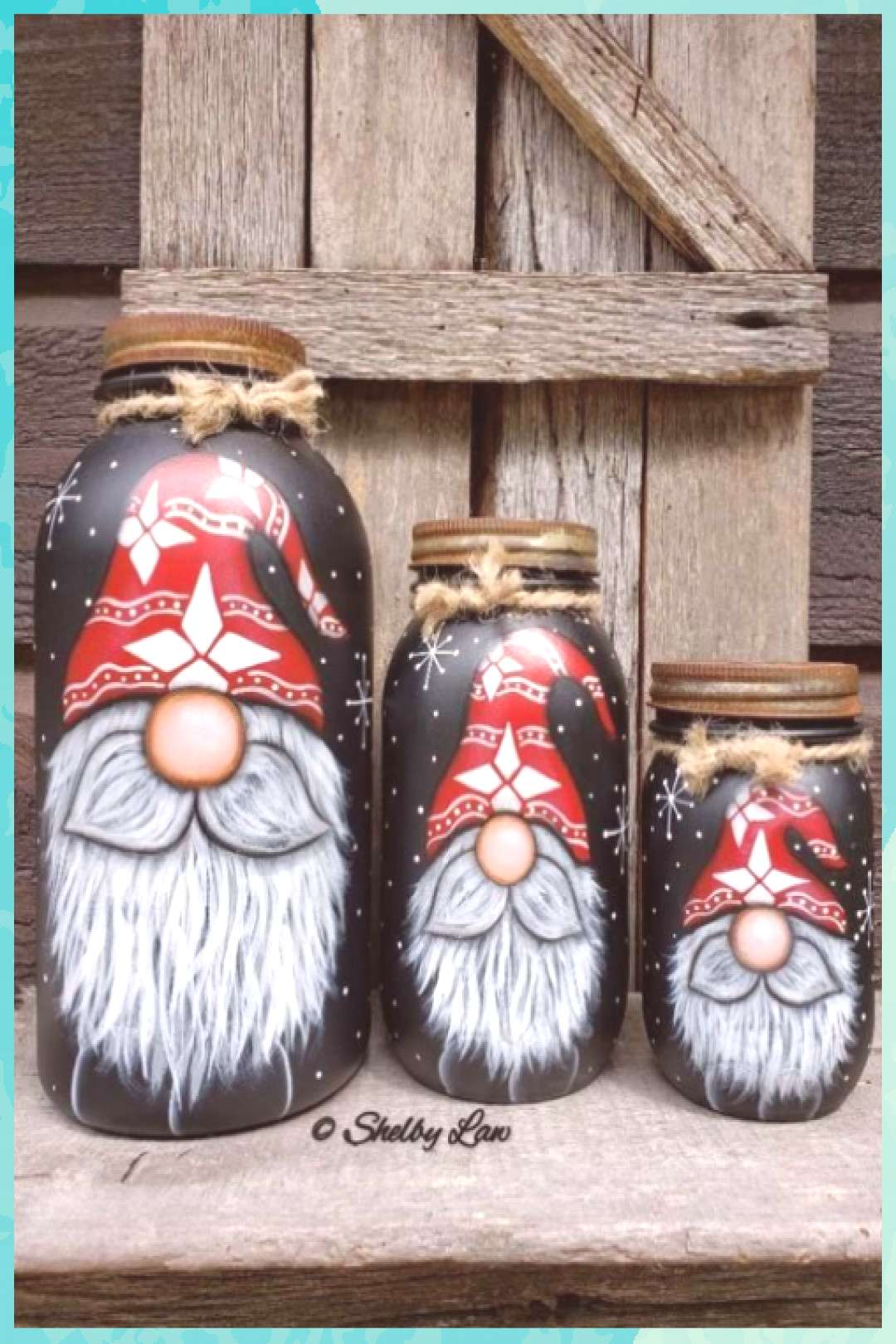 Gnomes, Gnome Painting, Gnome Quart Mason jar to do when bored crafts jar crafts crafts