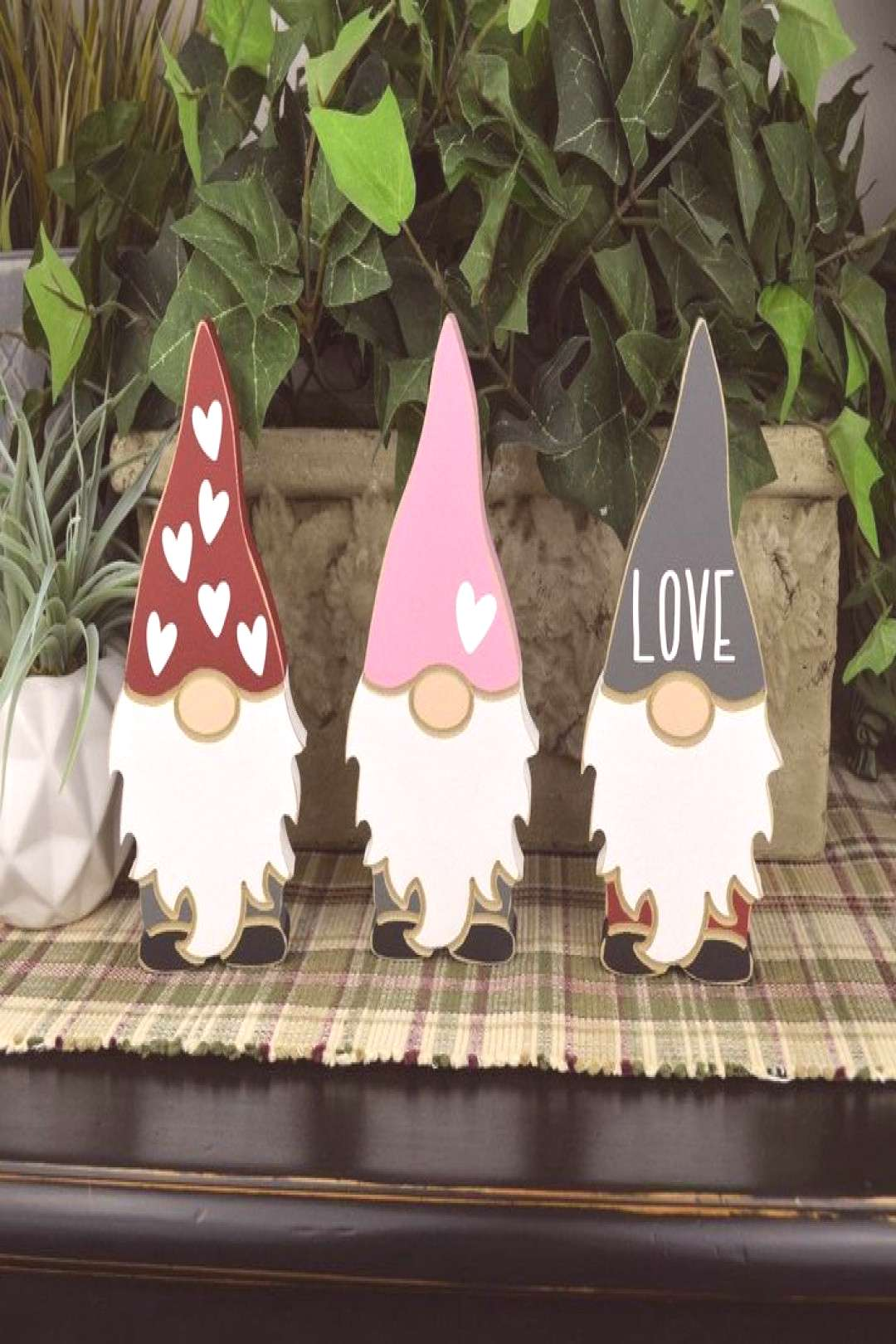 I Love you Gnome matter what!  Valentine's Gnomes are so cute for displaying on a tiered tray or